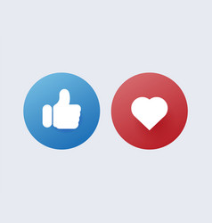 Like and dislike red disapproval and green vector