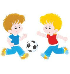 Little football players vector image