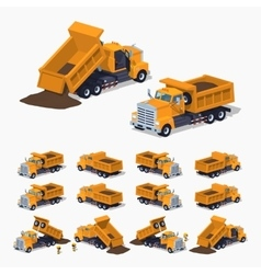 Loaded orange dumper vector