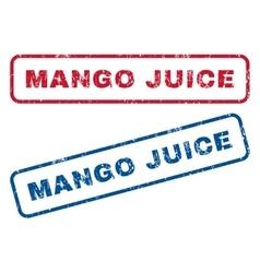 Mango Juice Rubber Stamps vector image
