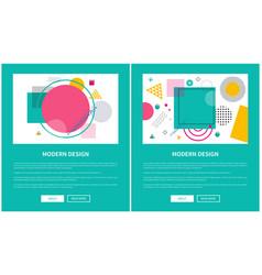 modern design set of pages vector image