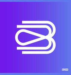 Modern professional logo monograma b in blue theme vector