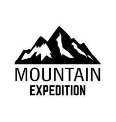 mountain expedition emblem template with rock vector image