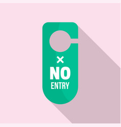 No entry hanger tag icon flat style vector