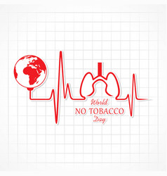 Of world no tobacco day vector