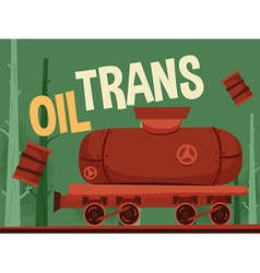Oil train vector