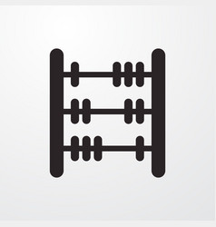 Old math calculator sign icon vector