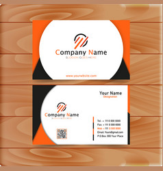 orange business card vector image