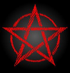 Pentagram or pentalpha or pentangle dot work vector