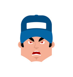 plumber angry emotion avatar fitter evil emoji vector image