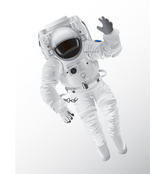 Professional spaceman in modern pressure suit vector