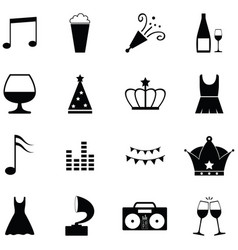 Prom icon set vector