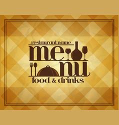 retro restaurant food and drinks menu design vector image