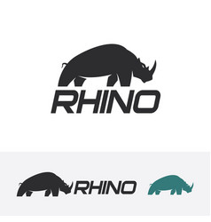Rhino logo design vector