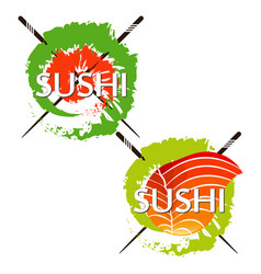 Rolls and sushi design vector