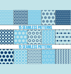 Seamless patterns polka dots set vector