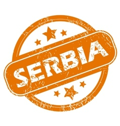 Serbia grunge icon vector image