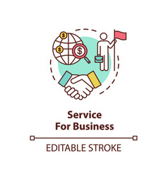 service for business concept icon vector image