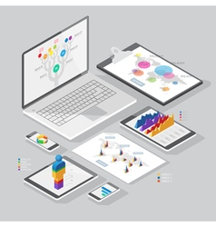 set infographics design elements vector image