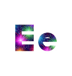 Set of letters firework E vector