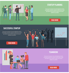 Successful startup internet page vector