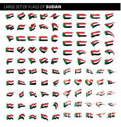 sudan flag vector image