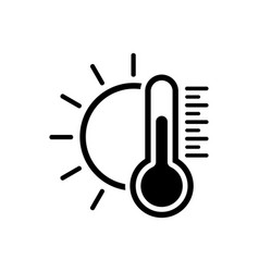 temperature icon good sunny weather symbol vector image