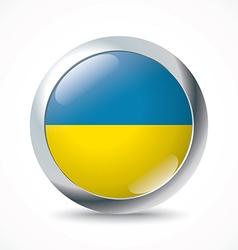 Ukraine flag button vector image