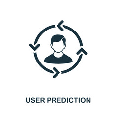 user prediction icon monochrome style design from vector image