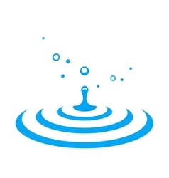 Water drop splash vector