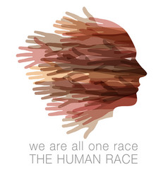 we are all one race human race vector image