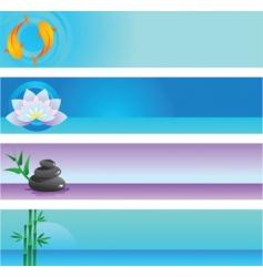 zen banners vector image