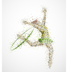 Abstract gymnast2 vector