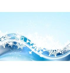 Blue abstract Xmas design vector image