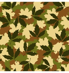 Foliage camouflage seamless pattern vector image vector image