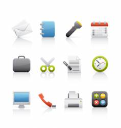 icon set office and business vector image