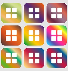 List menu content view options icon nine buttons vector