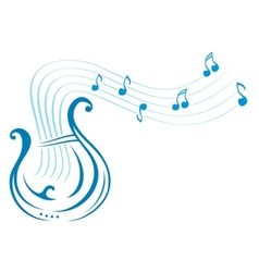 Lyre music vector image