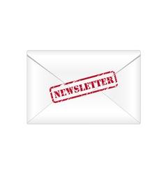 Newsletter rubber stamp vector image