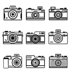 Set Of Outline Camera Icon vector image