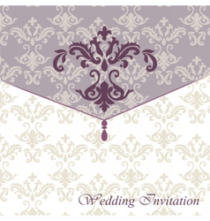 Classic luxury invitation card with ornaments vector image vector image