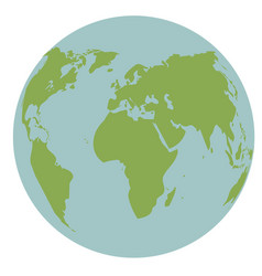 globe world earth map global continent vector image