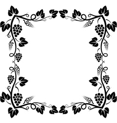 grapevine frame vector image