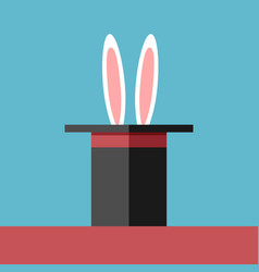 hat with rabbit ears vector image