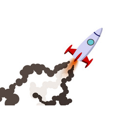 rocket launch to the sky vector image