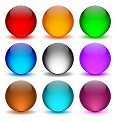 Different colors icons ball vector image vector image