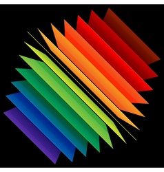 Perspective rainbow abstract rectangles vector image