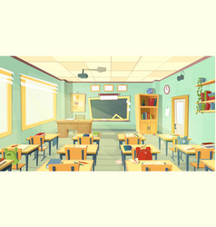 school classroom interior university vector image