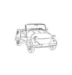 Soviet old-timer car vector image vector image