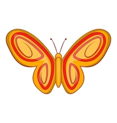 Summer butterfly icon cartoon style vector image vector image